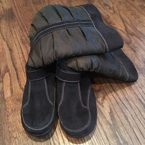 Shoes - Warm leather and manmade boots Size 7